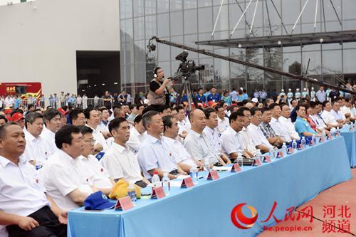 河北省首届园林博览会在衡水湖畔开幕(图)