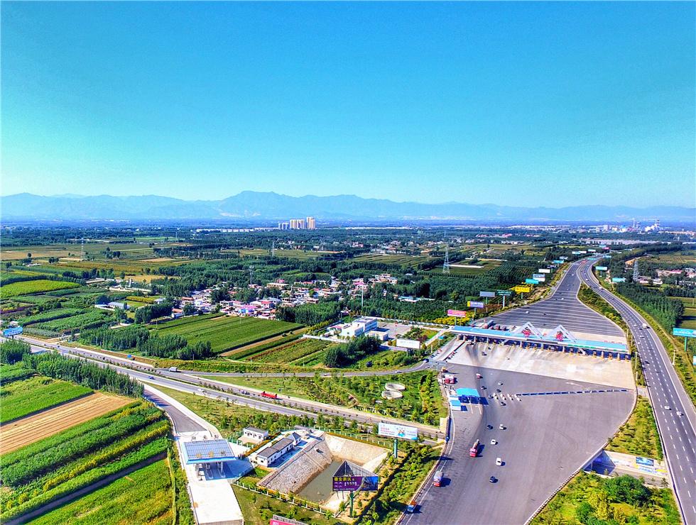 涿州市区交通路网鸟瞰