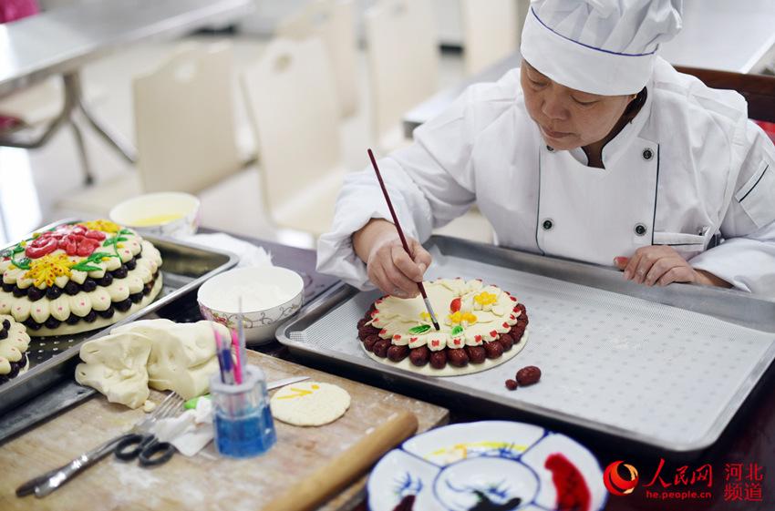 河北衡水市枣强县蒸花糕 迎新春