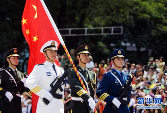 中国仪仗兵:首跨国门,踏响中国最强音